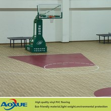 Wooden pattern PVC sports flooring