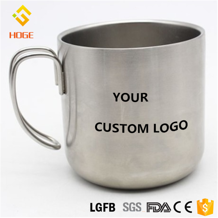 Custom Logo Printing Stainless Steel Travel Mug , Blank Double Wall Insulated Hook Mug With Hook Handle