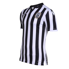 Fashion Men's Colorful Striped Soccer Jersey Game Cheap Plain Short-Sleeved T-shirt