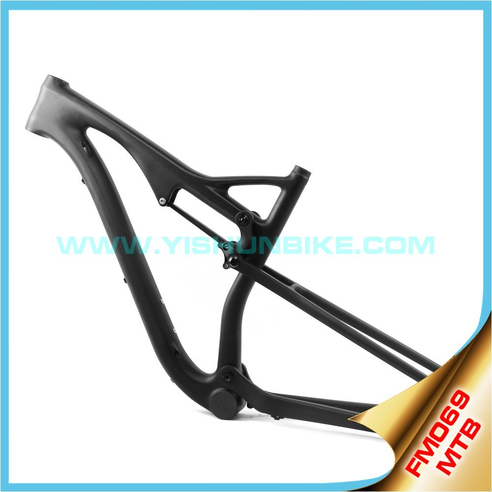 Super stiffness! carbon mtb frame 29er full suspension bike frame BB30/ PF30 mtb carbon bicycle frame Disc Brake FM069
