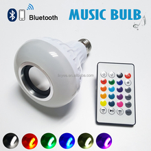 E27 Smart RGB RGBW Wireless Bluetooth Speaker Bulb Music Playing Dimmable LED Lamp smart light bulb with 24 Keys Remote Control