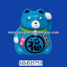 Fashion ceramic waving antique lucky cat for home decor