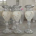 Large Decorative Items For Events , Outdoor Multifaced Polystone Trumpet Vase Standing Column Decoration
