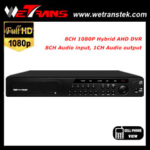 Low cost dvr cctv camera 8CH 1080P Real time AHD DVR 8CH audio input RS485 P2P Digital Video recorder dvr network h264