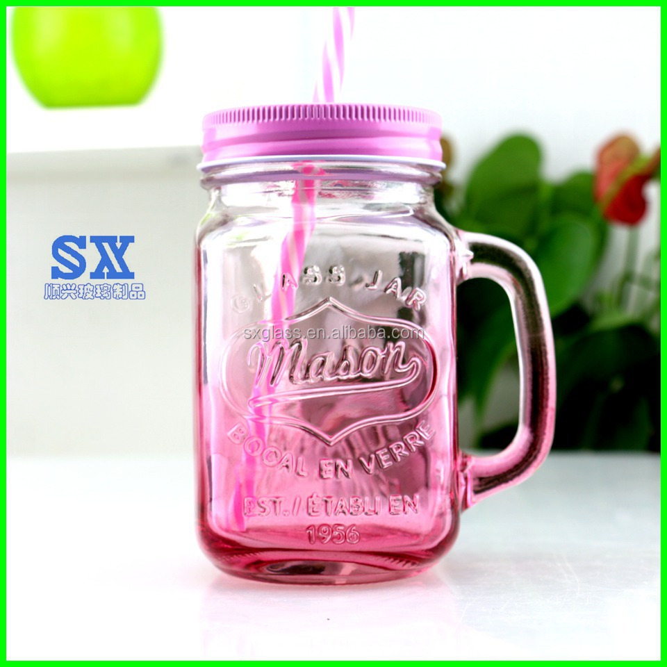 Factory supply high quality 16OZ mason jar drinking glass wholesale