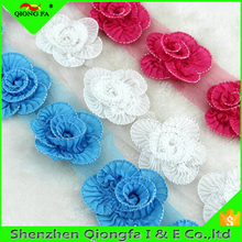 HYD Handmade Pleated lace Chiffon three - dimensional Flowers Heart DIY Accessories Bar Code Lace