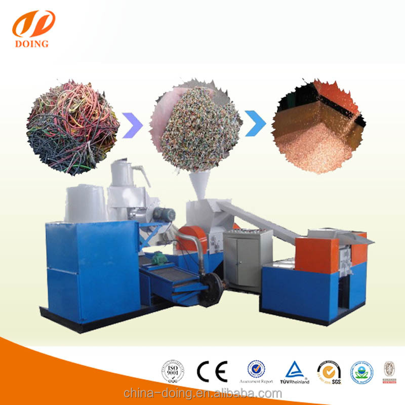 New technolgy copper wire recycling machine/copper aluminum recycling