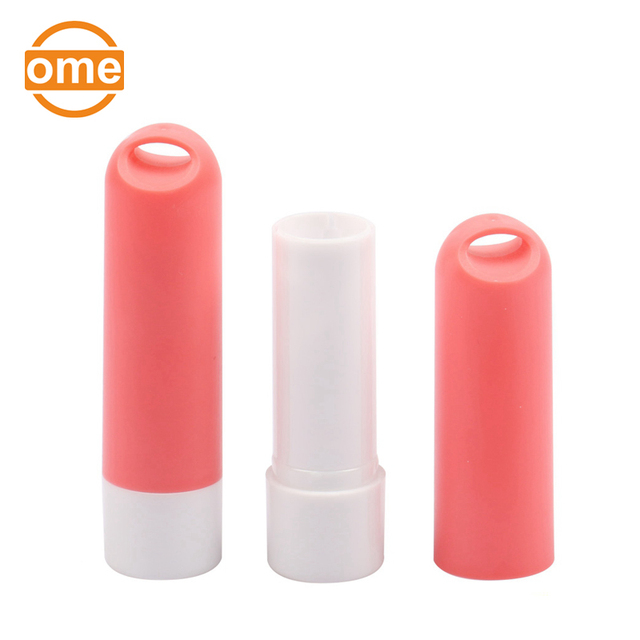 Hot selling lovely plastic cosmetics charming lip balm container