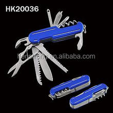 Multi function knives with scissor, can opener and nail cleaner