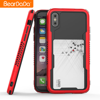 Popular Style Card Slot tpu pc high quality for iphone 10 x case in bulk