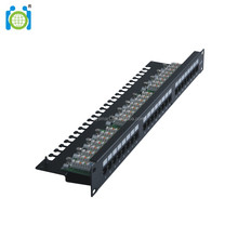 UTP 24 ports Cat5e Krone patch panel
