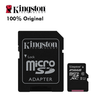 100% Original Class 10 UHS-I Card SDCS/256GB Kingston Canvas Select Micro SD Memory Card