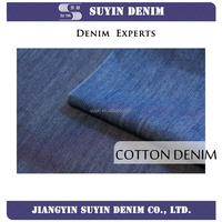 organic 100% cotton warp-slub indigo denim fabric