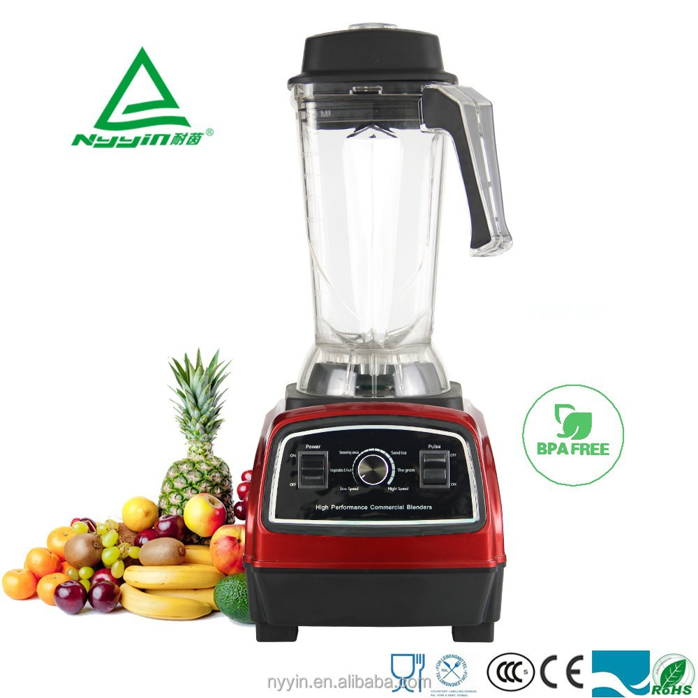 German motor technology 2200W High Quality High speed Professional Commercial Blender Food Processor Juicer 2.5L Capacity