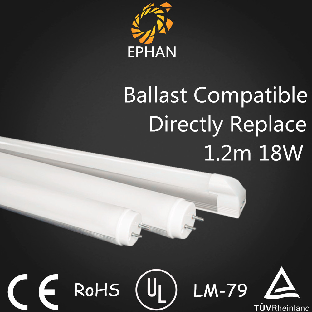 Ephan High PF No Rewire Compatible LED Tube Light