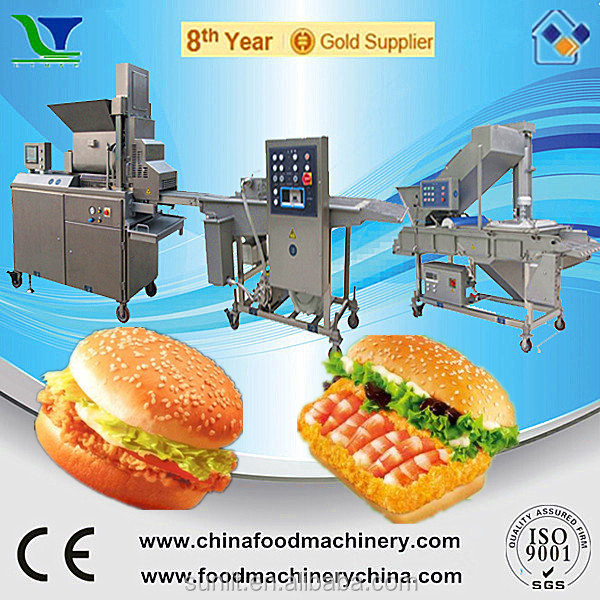 Automatic Chicken Pig Meat Processing Machinery for Burgers