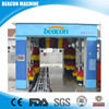 Used Automatic Tunnel Car Wash Machine price BEACON-988 with 9 brushes and drying system from manufacturer