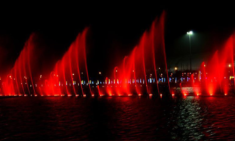 Large Rgb Lighted Water Musical Dancing Fountain