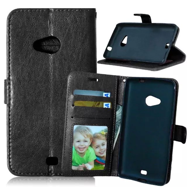 For Lumia 535 Magnetic Flip PU Leather Wallet Case with Photo Frame Card Holder Stand fundas Mobile Phone Cover cases