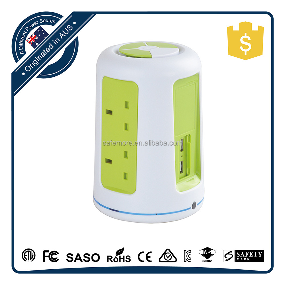 Travel International Magnetic Surge Protector Power Strip Usb Usa