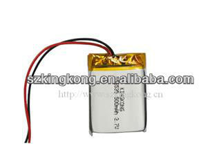 lithium rechargebale polymer battery 552535 500mah