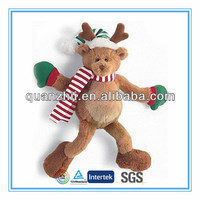 Plush toy reindeers with Candy canes