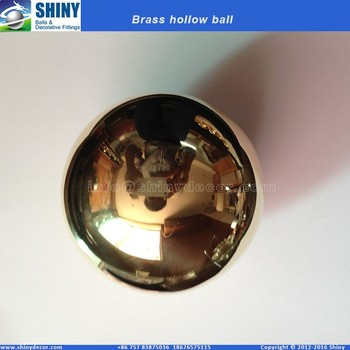 "High quality 4"" hollow brass ball in mirror polished"