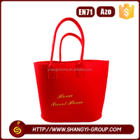 Wholesale christmas polyester felt customized shopping tote bag blank