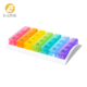 Plastic Removable Rainbow Weekly 7 Days Am Pm Pill Box
