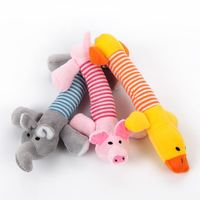 New Dog Toys Pet Puppy Chew Squeaker Squeaky Plush Sound Duck Pig & Elephant Toys 3 Designs new arrival Worldwide Store