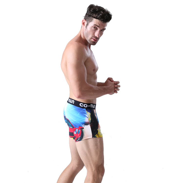 Customized printing cotton mens underwear boxer shorts