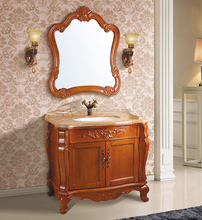 Spanish Style Floor Mounted vanity combo Antique bathroom cabinet