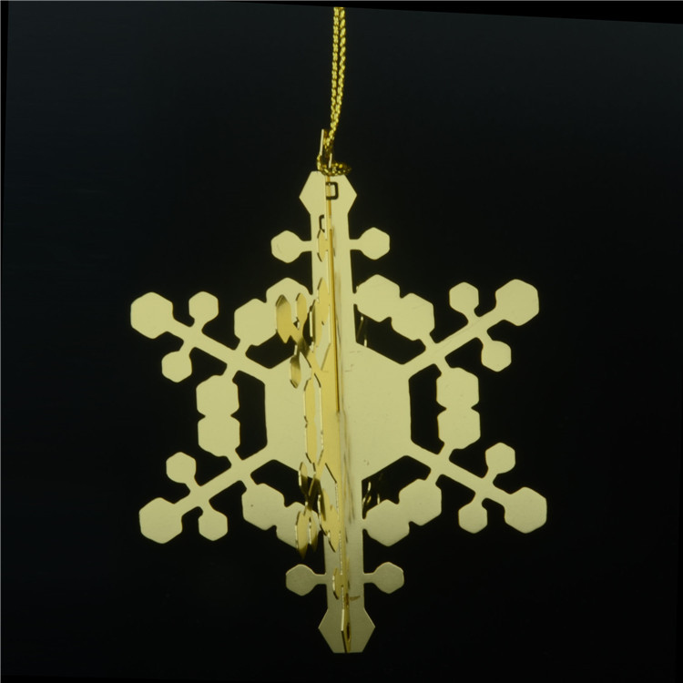 High quality creative customized fine Christmas snowflake small pendant