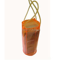 outdoor giveaway clear plastic ice bag for red wine