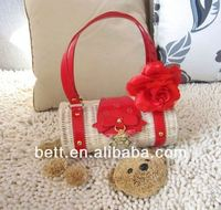 fashion recycled straw bag