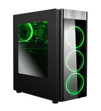 Cheapest competitive Custom Vertical Type Audio USB Front Ports and Desktop Application pc case mid Tower