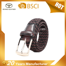 Hot Selling Fashion Wholesale Mix Color Woven Elastic Belt For Man