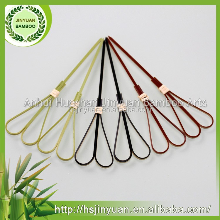 ALIBABA New design heart-shaped bamboo knot skewers at the lowest price