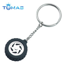Customized car wheel key chain for auto promotion