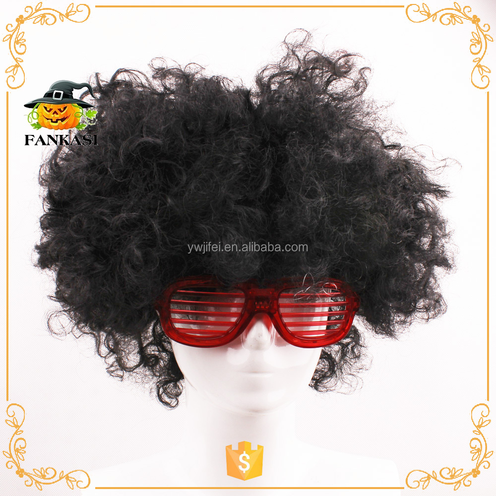 Cheap 60s 70s party use synthetic hippie afro wig