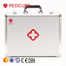 high quality wholesale custom silver aluminium alloy portable medical carrying first aid kit case