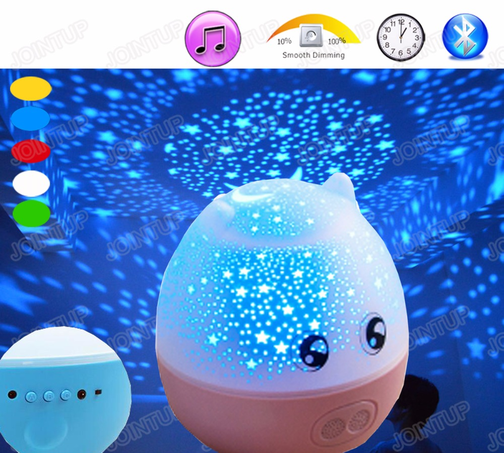 3Watt Rechargeable Bluetooth Remote Controllable 5-100% Brightness Dimmable Acoustic Night Light with Self-Timer