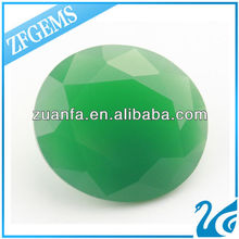 lab created big jade green glass stones point back