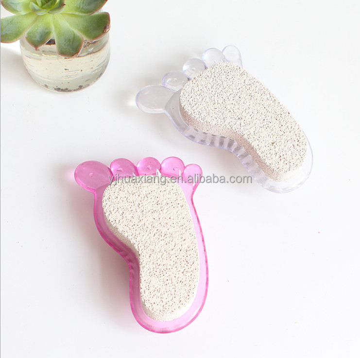 2017 small plastic soft bath pumice stone foot cleaning brush with exfoliating callus remover
