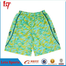100% polyester dazzle Basketball shorts wholesale basketball training shorts basketball uniform