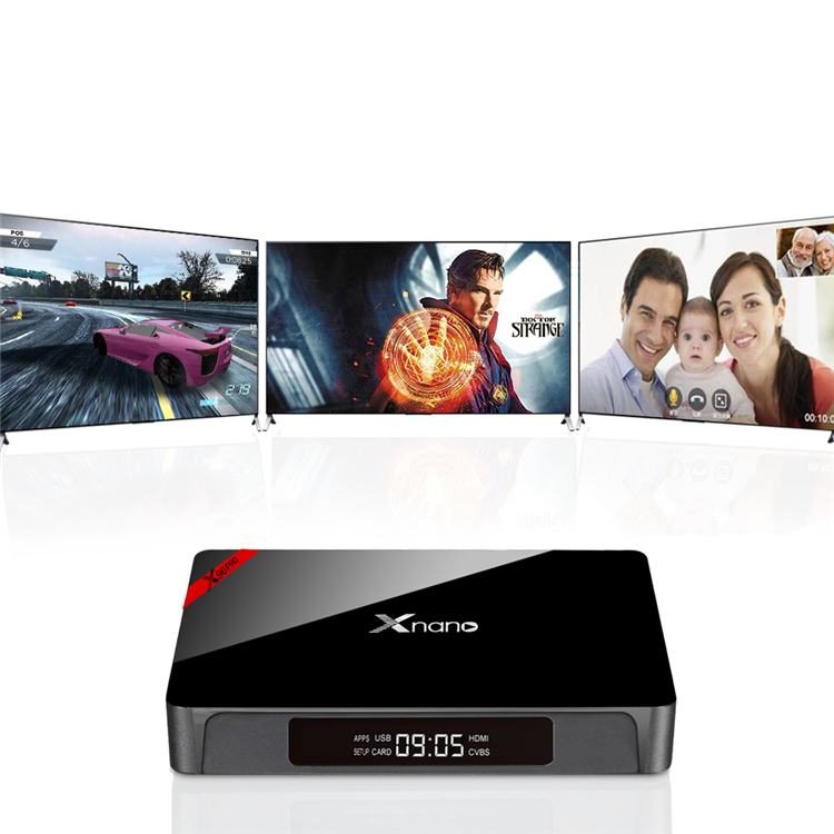 X96 Pro Xnano S905X 2G 16G play store app free download android tv box with usb 3.0 Manufacturer Android 6.0 TV Box