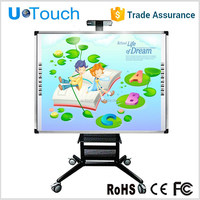 U-touch 85 inch two fingers infrared interactive white board/no projector interactive whiteboard/portable finger touch