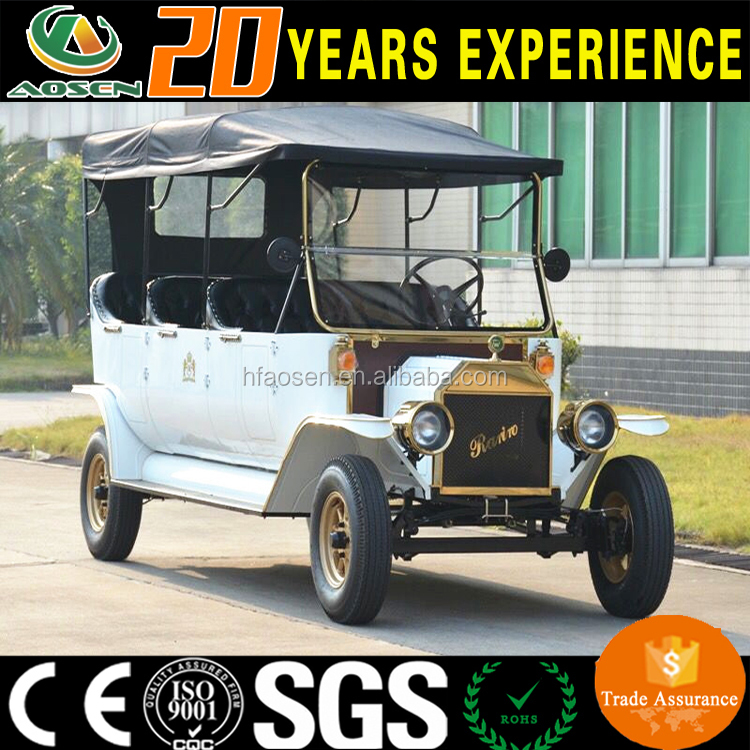 Chinese high quality electric 8 passenger classic car for sale