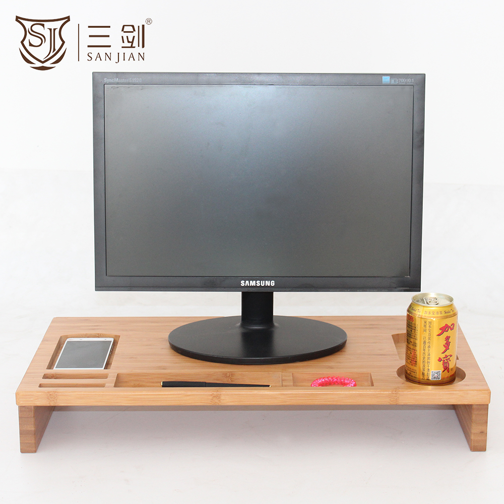 SANJIAN Home Storage Type Bamboo Material Laptop Stand