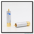 High Quality 10mm Nakamichi locking 24K Gold plated Hifi Audio speaker terminal Adapter Connector RCA plug